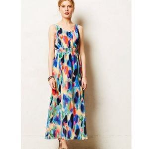 Maeve 100% silk Aloidia abstract multicolor maxi